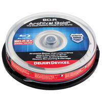 Delkin Devices Blu-ray 200 Year Disc - 10PC Spindle