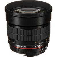 Rokinon 85mm f/1.4 Aspherical Lens for Nikon With Focus Confirm Chip