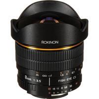 Rokinon FE8M-N 8mm F3.5 Fisheye Lens for Nikon (Black)