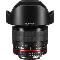 Rokinon 14mm Ultra Wide-Angle f/2.8 IF ED UMC Lens For Nikon With Focus Confirm Chip