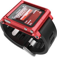 LUNATIK Wrist Strap Conversion Kit for iPod nano 6th Generation, 8/16GB (Red)