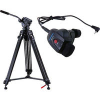 Acebil i-605DX Prosumer Tripod System with RMC-1DV Video Lens Zoom Controller