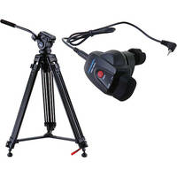 Acebil i-605DX Prosumer Tripod System with RMC-1DVX Lens Zoom Controller