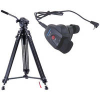 Acebil i-705DX Prosumer Tripod System with RMC-1DV Video Lens Zoom Controller