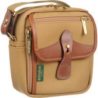 Billingham Stowaway Pola Shoulder Bag (Khaki with Tan Leather Trim)
