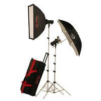 Photogenic AKC645K 645W/s Basic Studio 2 Light Soft Box Kit (120V AC)