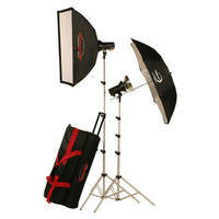 Photogenic AKC645BRK 640W/s Studio 2 Light Kit with and Radio (AC/DC)