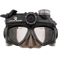 Liquid Image Wide Angle Scuba Series Full HD 1080p 12 MP Camera Mask with Large / Extra-Large Skirt
