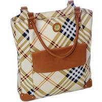 Jill-E Designs Laptop Tote (Tan/Plaid)