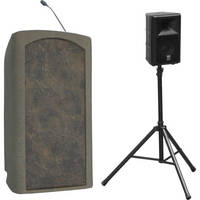 Summit Lecterns Presenter Lectern (Beige Granite)
