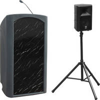 Summit Lecterns Presenter Lectern (Gray Granite)