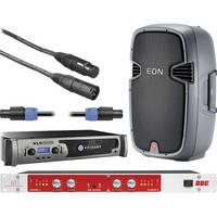 """JBL EON 305 15"""" Speaker Kit with Crown Power Amplifier"""