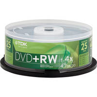 TDK DVD+RW 4.7GB 4x Disc (25)