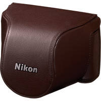 Nikon Leather Body Case Set for Nikon 1 J1 Camera with 10-30mm Lens (Brown)