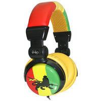 iHip Rasta DJ-Style Stereo Headphones