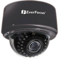 EverFocus 3-Axis Day/Night IR Indoor Dome Camera (9-22mm Lens, Black)