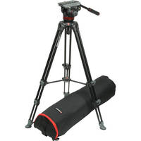 Manfrotto MVH502A Fluid Head and MVT502AM Tripod System With Carrying Bag