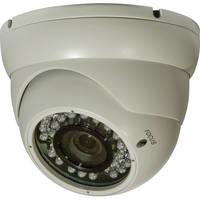 ARM Electronics 600 Line Outdoor IR Dome Camera with OSD (2.8-12mm, 90' IR, White)