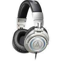 Audio-Technica ATH-M50s/LE Professional Closed-Back Studio Headphones (Silver)