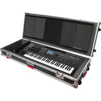 Gator Cases G-TOUR 61V2 61 Note Road Case with Wheels (Black)