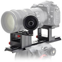 iDC Photo Video SYSTEM ONE Follow-Focus Kit for Nikon D7000 No Grip (2 Wheels/Lens Br)