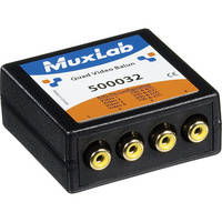 MuxLab Quad Video Balun with RCA Connectors
