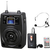 Pyle Pro PWMA80UFM 100W Portable PA System with Wireless Lavalier Mic