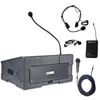 AmpliVox Sound Systems SW124-2 Wireless Roving Rostrum Podium PA