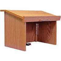 AmpliVox Sound Systems W242 Travel-Lite Tabletop Lectern (Oak)