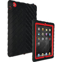 Gum Drop Cases Drop Tech Series Case for iPad 2nd, 3rd, and 4th Generation (Black/Red)
