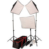 Autocue/QTV 3 Head Softbox Lighting Kit