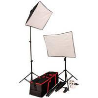 Autocue/QTV 2 Head Softbox Lighting Kit