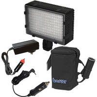 Bescor LED-180 On-Camera Light with HP-3NC Battery / Charger / Adapter Kit