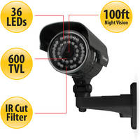 Defender Ultra-Resolution Outdoor Cameras with Night Vision (4 Pack, NTSC)