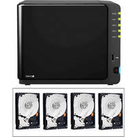 Synology 4TB (4x1TB) DiskStation DS412+ 4-Bay All-In-1 NAS Server B&H Kit