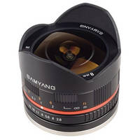 Samyang 8mm f/2.8 Fish-eye Lens for Sony E-mount (Black)