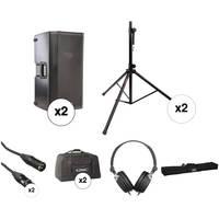 """QSC K12 12"""" 2-Way 1000 Watt Powered Speaker Double Kit"""