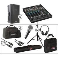 """QSC K10 10"""" 2-Way 1000 Watt Powered Speakers Large Kit"""