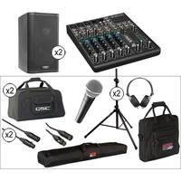 """QSC K8 8"""" 2-Way 1000 Watt Powered Speakers Large Kit"""