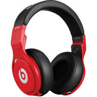 Beats by Dr. Dre Pro - High-Performance Studio Headphones (Red and Black)