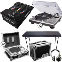 Audio-Technica Dual AT-LP120USB Direct Drive Turntables with XONE:22 Mixer Kit