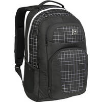 OGIO Convoy Backpack (Black with White Grid Pattern)