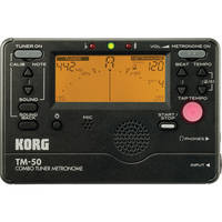 Korg TM-50 Combination Tuner & Metronome (Black)