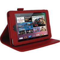 rooCASE RC-NEXUS7-MA-RD Multi Angle Vegan Leather Folio Case Cover for Google Nexus 7 Tablet (Red)