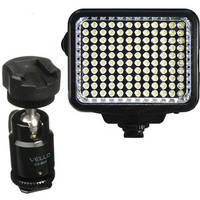 Vidpro K-120 On-Camera LED Light with Multiple Accessories and Vello Multi-Function Ball Head Kit