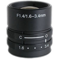 "Kowa LMVZ164 1/3"" 1.6 to 3.4mm Varifocal Manual Iris Lens"