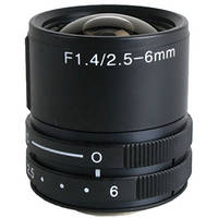 "Kowa LMVZ256 1/3"" 2.5 to 6mm Varifocal Manual Iris"