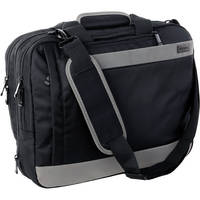 Ruggard Convertible Laptop Case (Black with Charcoal Stripe)