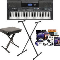 yamaha psr e433 value bundle b h photo video. Black Bedroom Furniture Sets. Home Design Ideas