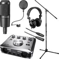 Audio-Technica AT2035 Mic, ATH-M20 Headphones and Tascam US-600 Interface Kit
